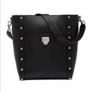 Rebecca Minkoff | black studded madison large hobo